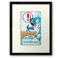 WARNING!!! Framed Print
