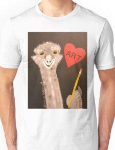 I Love Art by Mr Ostrich Unisex T-Shirt