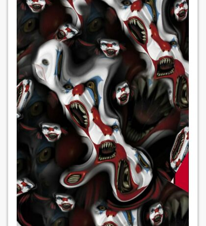 Evil Clown Iphone Case Sticker