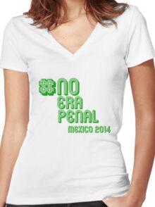 #NoEraPenal - No era penal Women's Fitted V-Neck T-Shirt