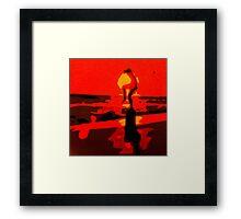 Karate Kid Crane Kick Framed Print