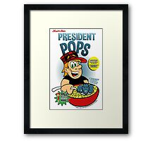President Pops (Pete and Pete parody) Framed Print