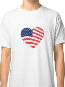 Heart in Stars and Stripes Classic T-Shirt