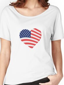 Heart in Stars and Stripes Women's Relaxed Fit T-Shirt