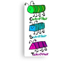 [x]aterpillar shapes Canvas Print