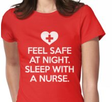 Sleep With A Nurse Funny Quote Womens Fitted T-Shirt