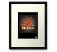 Drama Framed Print