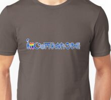 "INCOMPATIBLE and cannot ""coexisist"" (blue with outline) Unisex T-Shirt"