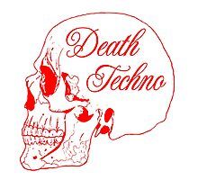 DEATH TECHNO RED Photographic Print