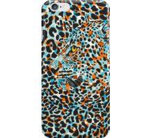 Black & Pastel Tones Camouflaged Leopard Design iPhone Case/Skin
