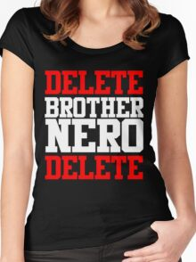 Delete Brother Nero Delete Women's Fitted Scoop T-Shirt