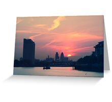 Sunset over Thames  Greeting Card