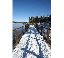 Snowy Bridge Photographic Print