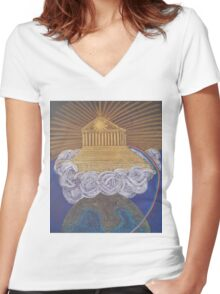 Mount Olympus Women's Fitted V-Neck T-Shirt