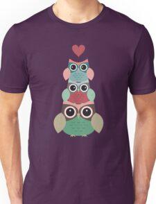Owls in Love Pattern Unisex T-Shirt