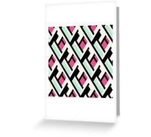 Color blocked bold pattern Greeting Card