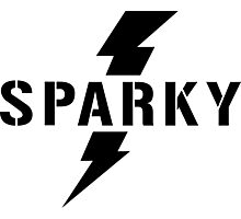 Sparky Electrician lightening bolt Photographic Print