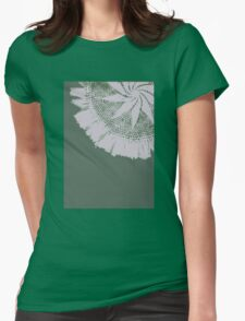 Green Lace Womens Fitted T-Shirt