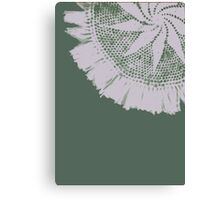Green Lace Canvas Print