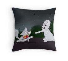 Casper and Ferdie Throw Pillow