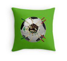 MEXICO SOCCER SPIDER  Throw Pillow
