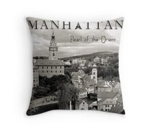 Manhattan - Pearl of the Orient Throw Pillow