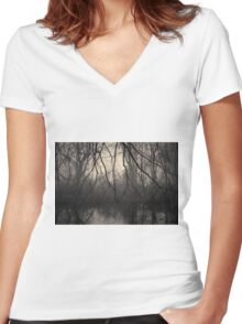 Three Mile River III Toned Women's Fitted V-Neck T-Shirt