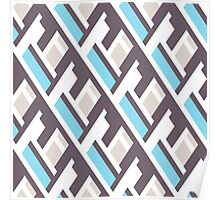 Bold pattern with architectural motifs Poster