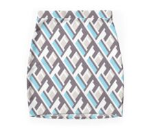Bold pattern with architectural motifs Mini Skirt