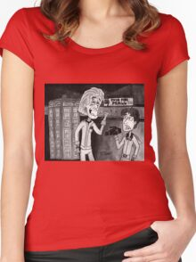 Back To WHOS Future Women's Fitted Scoop T-Shirt