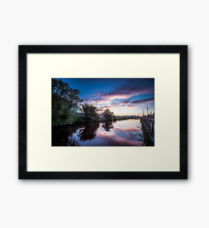 Sunset on the Canal Framed Print
