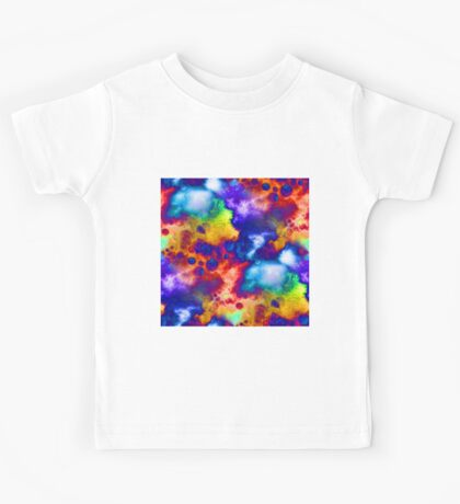 Colorful Abstract Digital Painting Kids Tee