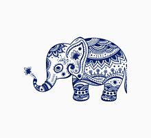 Royal Blue Cute Elephant Tribal Floral Design Unisex T-Shirt