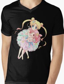 Sailor Moon-Sailor Moon and Sailor Chibi Moon Mens V-Neck T-Shirt