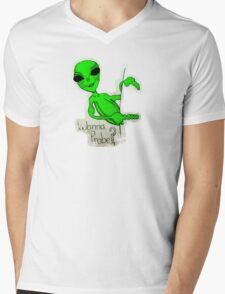 Wanna Probe? Mens V-Neck T-Shirt