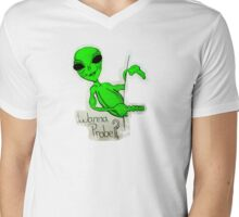 Wanna Probe? Mens V-Neck T-Shirt