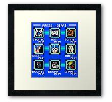Megaman Multiverse Framed Print