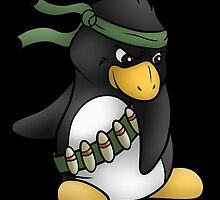 Commando Penguin by Kimburly