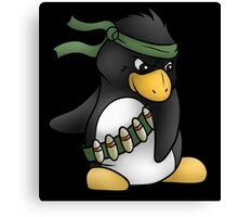 Commando Penguin Canvas Print