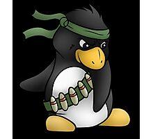 Commando Penguin Photographic Print