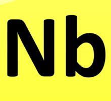Niobium Periodic Table Element Symbol Sticker