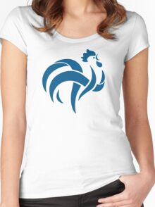France Football rooster Women's Fitted Scoop T-Shirt