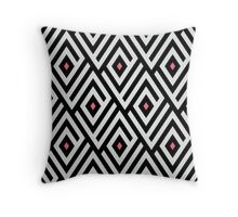 Maze pattern with pink dots Throw Pillow