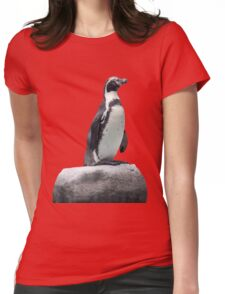 Penguin on a Rock Womens Fitted T-Shirt