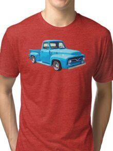 Classic 1955 F100 Ford Pickup Truck Tri-blend T-Shirt