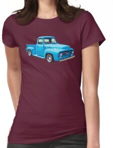 Classic 1955 F100 Ford Pickup Truck Womens Fitted T-Shirt