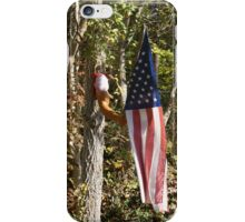 Holding the American Flag iPhone Case/Skin