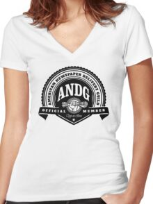 American Newspaper Delivery Guild Women's Fitted V-Neck T-Shirt
