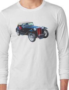 Black Mg Tc Antique Car Long Sleeve T-Shirt