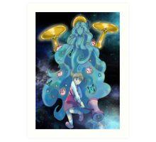 Nanako and Gaia Art Print
